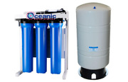600 Gpd Commercial Reverse Osmosis Water Filter System Booster Pump +20 Gal Tank
