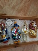 Kurt Adler Polonaise Wizard Of Oz Ornaments Set Of 4 With Crate