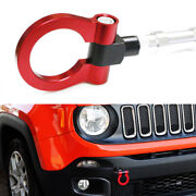 Sports Red Track Racing Style Aluminum Tow Hook Ring For 2015-up Jeep Renegade
