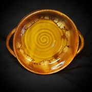 "Dryden Pottery Original 7""  BOWL WITH HANDLES/CROCK Signed"