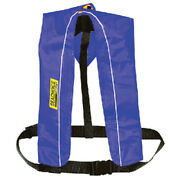 Blue Polyester Automatic Or Manual Inflatable Type V Pfd Boat Safety Life Vest