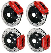 Wilwood Disc Brake Kitfits Subaruwrxetc13/12 Drilled Rotorsred Calipers And039
