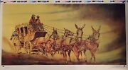 William Verdult Stagecoach Limited Edition Lithograph Hand Signed W/coa