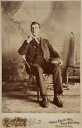Antique Pullman Car Conductor Victorian Cabinet Card Photo Southside Chicago Il