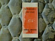 1958 Newberry College Indians Football Media Guide Yearbook Press Book Program