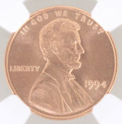 1994 Lincoln Memorial Cent 1c Ngc Ms68 Rd Red Population 30/1