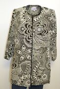 3 Sisters Jacket Coat S 4-6 Women's Long Tunic Dressy No Button Usa Made 1987