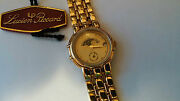 Lucien Piccard Wrist Watch, Gold, Moon, S/s Band, Gold Color, Quartz, With Date