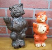 Orig Humble Esso Put A Tiger In Your Tank Metal Toy Bank Mold Gas Oil Adv Rhtf