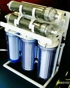 Aquarium Reef Reverse Osmosis Water Filter System 6 Stage/booster Pump 200 Gpd