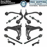 10 Piece Steering And Suspension Kit Control Arms Tie Rods Sway Bar End Links New