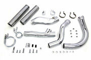 Chrome Replica Replacement Exhaust Pipes Header Kit 1948-1957 Harley Panhead Fl
