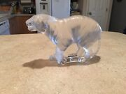 Lalique Bengal Tiger France Crystal Mint Scrouching Sculpture Figurine Majestic