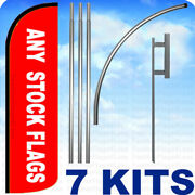 7 Kits - Windless Swooper Flag Kit Feather Any Stock Flag Mix Match Pack