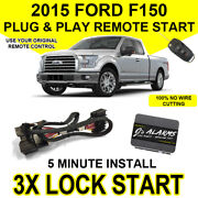 2015 Ford F-150 Remote Start Plug And Play Easy Install Truck F150 3x Lock F02