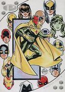 Marvel Premier 2017 5 X 7 Oversize Sketch Card By Mitch Ballard - Vision And More