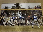 1962 Detroit Lions Pittsburgh Steelers Photo Vintage Nfl Image Playoff Tickets
