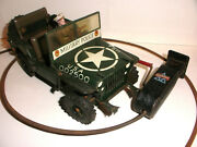 Vintage 1950`s Arnold Usa Military Police Jeep 2500 Tin Toy Us - Zone Germany
