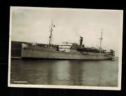 1930s Italy To Usa Palestine Paqueboat Rppc Postcard Cover Ss Gerusalemme