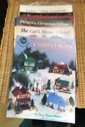 Cross Stitch Pattern Booklets Christmas Villages, Cat's Meow, Dickens