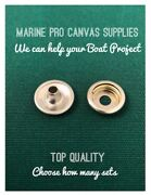 Stainless Steel Cap And Socket Dot Snap Fasteners Marine Quality Choose Your Set