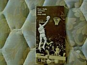 1965-66 Nyu Violets Basketball Media Guide Yearbook 1966 Nit Finals Program Ad