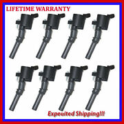 Brand New Ignition Coils 8pcs For 2001-2003 Ford 4.6l 5.4l 6.8l Ufd267s8