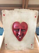 Playing Cards Italian Paper Mache Set Of 4 Aces.