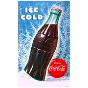 Coca-cola Bottle Ice Cold Wall Decal Vintage Style Coke Winter