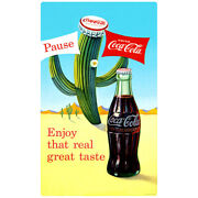 Coca-cola Cactus Enjoy That Real Great Taste Wall Decal Vintage Style Decor
