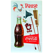 Coca-cola Pause Country Weathervane Wall Decal Vintage Style Decor Coke