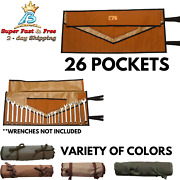 Roll Tool Pouch Wrench Hand Bag Slot Organizer Holder Canvas Pouch 26 Pocket New