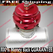 Red Universal 50mm Emusa Blow Off Valve+2.5adapter Fits Toyota Honda Acura