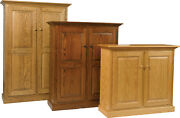 Solid Wood | Raised Panel Double Door Bookcase | Pie Safe | Pantry | Handcrafted