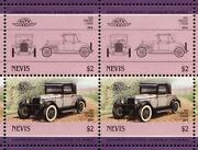1926 Pontiac 2-door Coupe Car 50-stamp Sheet / Auto 100 Leaders Of The World