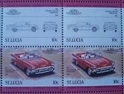 1957 Chevrolet Bel Air Convertible Car 50-stamp Sheet Auto 100 Leaders Of World