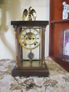 Rare Ansonia Clock Co. New York 8 Day Time And Strike 1/2 Hour.