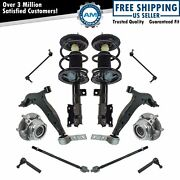 12 Piece Steering And Suspension Kit Complete Strut Wheel Bearings Control Arms