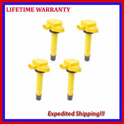 4pcs Ignition Coil For Honda Civic Ridgeline Acura 30520-pgk-a01 Jhd286y4