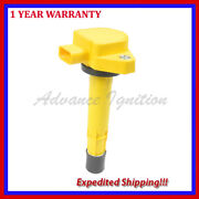 Yellow Ignition Coil Uf400 Q1jhd286y For Honda Acura 3.5l V6 1.7l L4