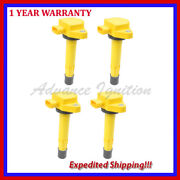 Yellow Ignition Coils Uf400 Q4jhd286y For Honda Acura 3.5l V6 1.7l L4