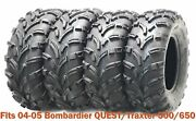 4 Wanda Atv Tires 25x8-12 And 25x11-12 For 04-05 Bombardier Quest/traxter 500/650