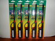 Lot 5 Handi Flame Long Refillable Butane Gas Lighters Bbq Grill Candle Fireplace