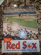 1967 Official Red Sox Program And Scorecard