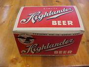 Highlander Beer 6-pack Box Missoula Brewing Co. Montana - Nos And Nmint