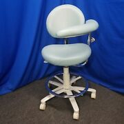 Brewer Dental 3345bl Combo Assistant Stool With Neptune Ultra-leather