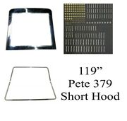 Peterbilt 379 Short Hood Grille With Trim And Huck Bolts