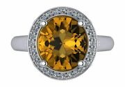 14k Gold Oval Cut W/ Diamond Ring Setting - Halo Style Ring Mounting