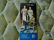 1965-66 Byu Cougars Basketball Media Guide Yearbook 1966 Nit Champions Wac Ad