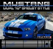 2010 - 2012 Ford Mustang Shelby Lemans Roush Style Rally Stripes Dealer Quality